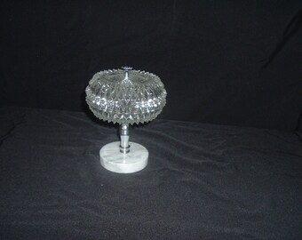 vintage crystal candy dish with lid