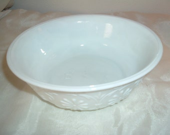 vintage milk glass ftd bowl
