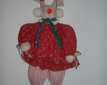 house of lloyd stuffed reindeer doll