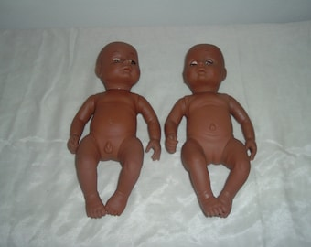 two vintage soft plastic dolls