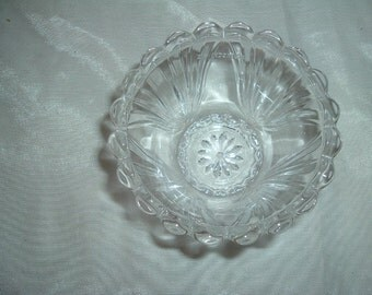 vintage depression glass sherbert bowl
