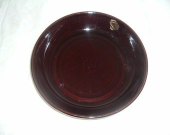 vintage brown shallow porcelain bowl