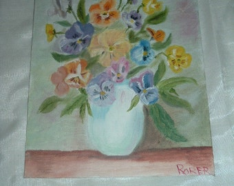 beautiful 8inch by 10 inch painting signed RORER