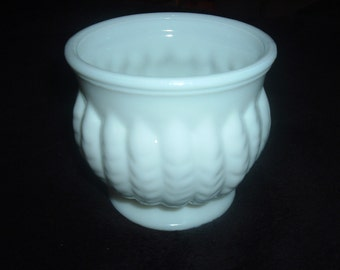 Vintage white Milk Glass Planter/Bowl