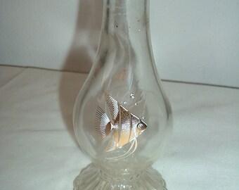 vintage clear depression   glass vase