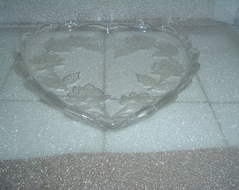 vintage  heart shaped candy dish