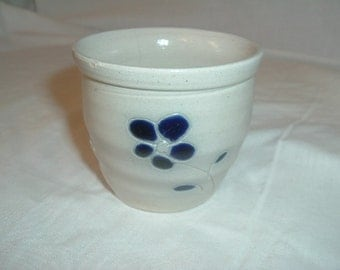 hand made hand painted pottery pot