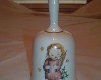 Vintage Limited Edition Christmas Bell depicting the Authentic Art of Berta Hummel Made in West Germany