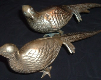PAIR OF BEAUTIFUL BRASS DOVES