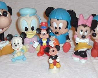 Disney Collection Lot of 10 Vintage Soft Toys Collectibles