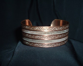 Vintage Copper Designer Ladies Bracelet Jewelry