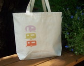 Natural cotton market tote -  Campers