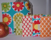 Reusable sandwich and snack bags - Daisy dance and snack bag of your choice