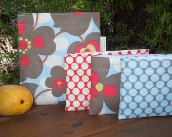 Reusable sandwich and/or snack bag - Reuse sandwich bag - Reusable snack bags - Morning glory and chose your favorite snack bag