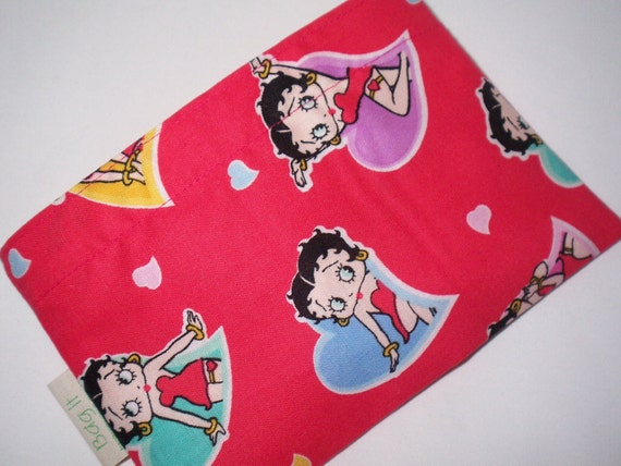 Reusable snack bag - I love Betty Boop  -  S A L E