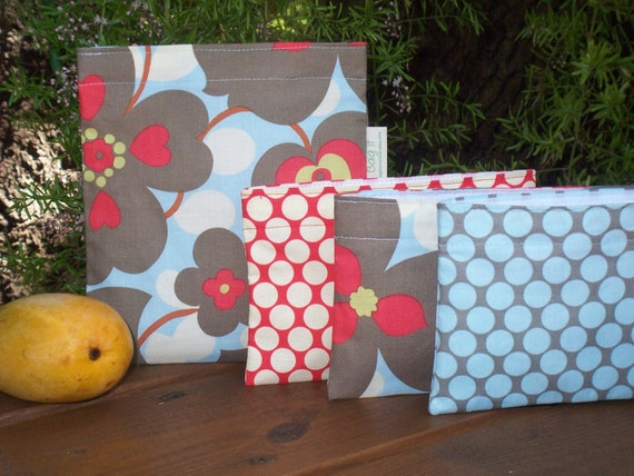 Reusable sandwich and/or snack bag - Reuse sandwich bag - Reusable snack bags - Morning glory and several options for the snack bag