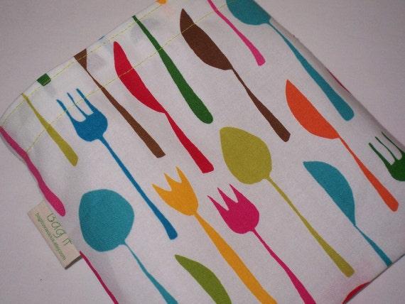 "Reusable sandwich bag -  Cutlery  -  "" "" "" ON SALE ' ' '"