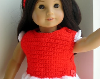 Instant Download PDF Crochet Pattern Capri Pants and Top for American Girl 18 inch Dolls Digital Pattern