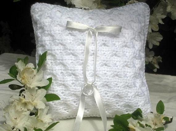 CROCHET PATTERN Ring Pillow Cover Classic Elegance