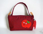 Happy Tomato Handbag (with handle) - Googly Eyes - Zippered SALE