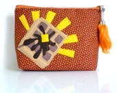 Hooray For Sweet Waffles Pouch - Zippered - OOAK - Handmade in USA - Leslie Knope Approves This Message