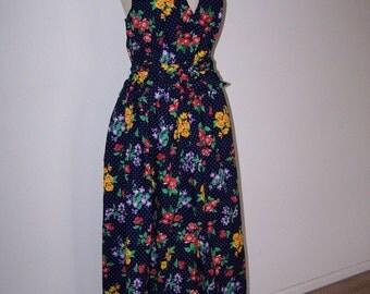 Vintage Handmade Halter Party Dress Size 12