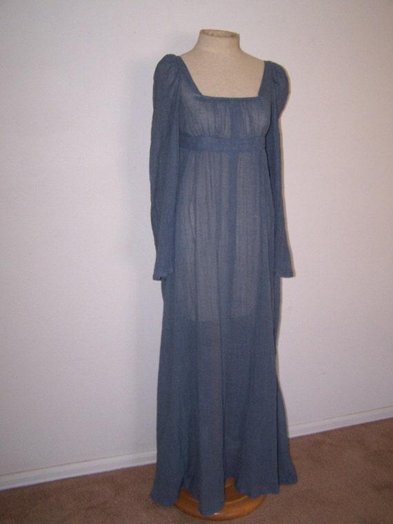 Vintage Handmade Wedding Dress Size Medium