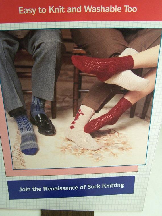 Knitting Patterns For Funky Socks : Vintage Crazy Socks Knitting Patterns by MargaretsPlace on ...
