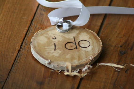 FREE US Shipping -I do - Gift Tag, Mini Ring Pillow, Center Piece Accent