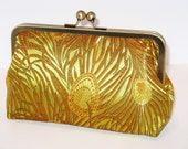 SALE  African Gold Peacock Clutch