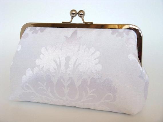 Damask Brides Clutch,Bridal Accessories,Bridal Clutch,Clutch,Formal,Wedding Purse,Bridesmaid Gifts