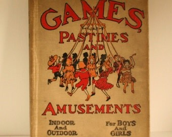 Games, Pastimes and Amusements Halloween decor children's book vintage