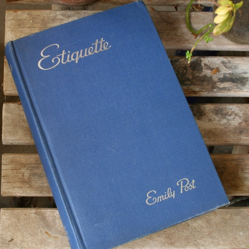 Emily Post Wedding: Emily Post Etiquette 1950 Book Vintage