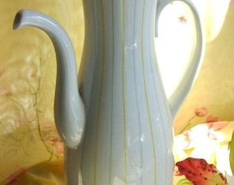 Sale. 9 30 13...Wonderful Midcentury moderne vintage slimline coffee espresso ceramic china server in vgvc