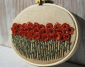 Burnt Orange Embroidered Wall Hanging