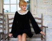 The Rebecca Dress in Black Velvet