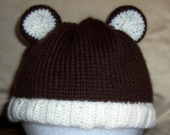 PATTERN - Knit Baby Hat with Ears