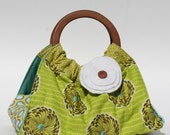 Green Brown Turquoise Dish and Casserole Carrier