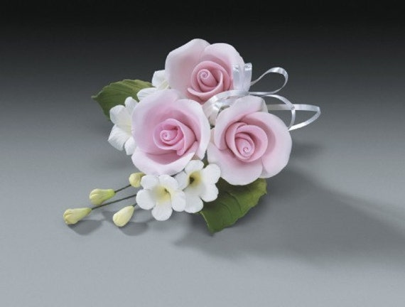 2 sets of pink rose gum paste flower sprays for weddings and for Flower sprays for weddings