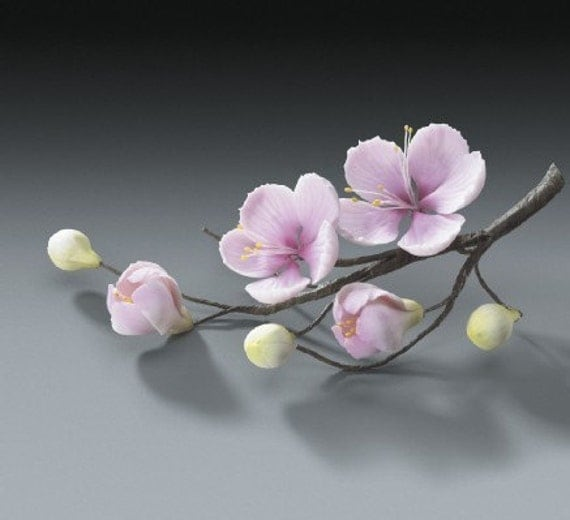 8 cherry blossom branch gum paste flower sprays for weddings for Flower sprays for weddings