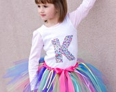 Birthday Surprise Tutu, rainbow tutu, ribbons, colorful, birthday party, photography prop, tutu