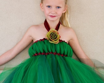 Emerald City Empire Tutu Dress, Flower Girl Dress, Birthday Dress, Wizard of Oz, Green Dress, Tulle Dress