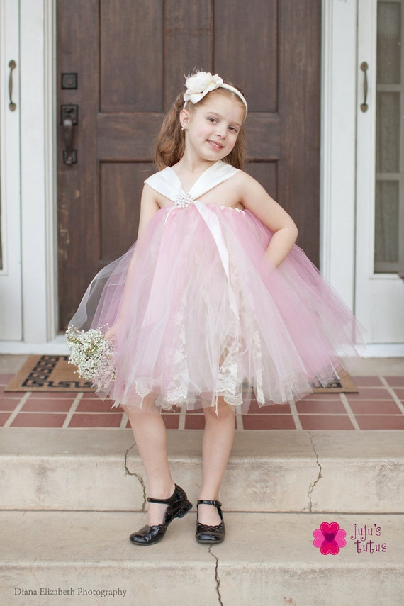 RESERVED LISTING FOR mleplummer, Vintage Lace Flower Girl Dress, Shown in Ivory and Rosette, Size Small