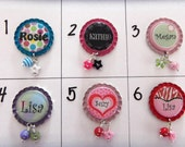 TOP Only**Personalized Badge Reel Tops (Set B)  *PICK one*