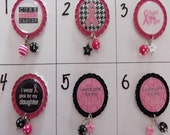 TOP Only**Breast Cancer Awareness Interchangeable Badge Reel Tops (Set A)  *PICK one*
