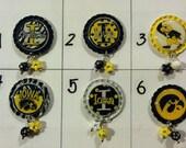 TOP Only**New Iowa Hawkeye Interchangeable badge reel tops  *PICK ONE*
