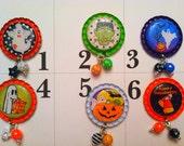 TOP Only**Halloween Interchangeable Badge Reel Tops  *PICK one*