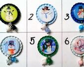 TOP Only**Snowmen Interchangeable Badge Reel Tops  *PICK ONE*