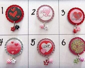 TOP Only**Valentine Badge Reel Tops (Set B)  *PICK One*