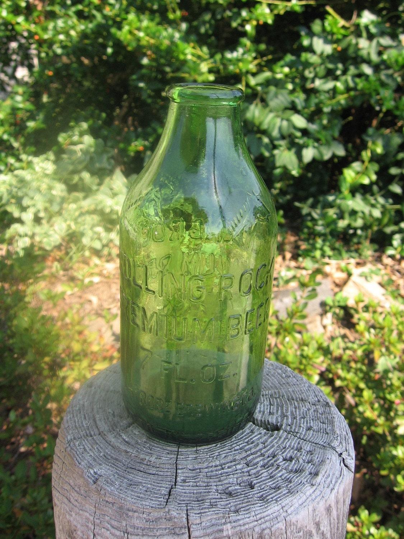 Vintage Rolling Rock 7 Oz Green Beer Bottle By